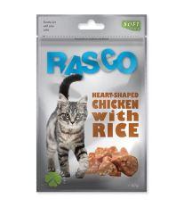 Pochoutka RASCO srdíčka z kuřecího masa + rýže 80 g
