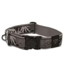 Obojok pre psa nylonový - Rogz Fancy Dress Silver Gecko - 4 x 50 - 80 cm