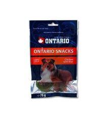 Ontario Snack Chicken & Kiwi - pochúťka kura & kiwi pre psov 70 g