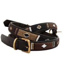 Non-Stop Dogwear Earth masajská kožený obojok, veľkosť 18