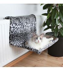 Trixie závesné lôžko na kúrenie plyšové motív snežný leopard 58 x 30 x 38 cm