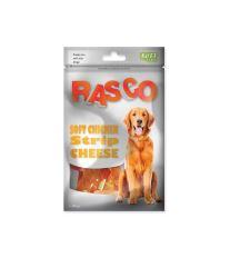 Pochoutka RASCO Dog proužky kuřecí se sýrem 80 g