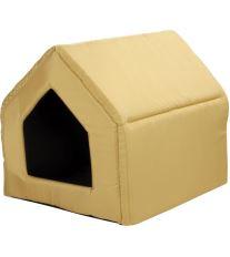 Bouda pro psy a kočky Argi - žlutá - 38 x 38 x 38 cm