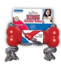 Hračka guma Kosť s preťahovadlo Kong medium