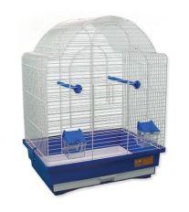 Klietka BIRD JEWEL K9 biela + modrá 45 x 33,5 x 59 cm