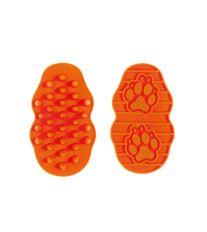 Kefa na psov a mačky gumový Argi - oranžový - 13x7,5x3 cm