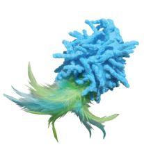 Hračka cat mikrovlákno Loptička s perím Kong 1 ks