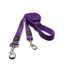 Vodítko ROGZ Fancy Dress Purple Chrome přepínací L