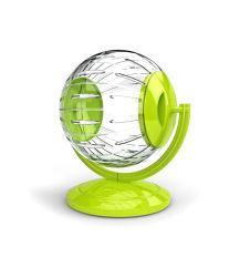 Koule se stojanem pro hlodavce Argi - zelená - 12,5 cm