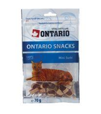Ontario Snack Mini Sushi - pochúťka kura & zelenina & ryba pre mačky 70 g