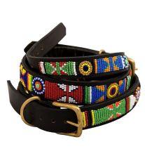 Non-Stop Dogwear Color masajská kožený obojok, veľkosť 22