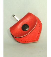 Topás adresár kožené srdiečko červené, 55x50 mm