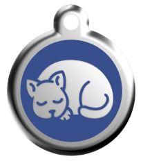Red Dingo Známka modrá vzor mačiatko - veľkosť S, 20 mm