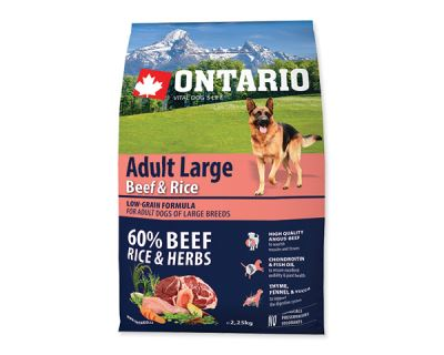 ONTARIO Dog Adult Large Beef & Rice