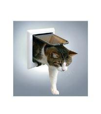 Dvířka kočka plast 4funkční s nástavci Bílá TR