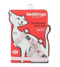 Postroj Red Dingo s vodítkem - reflexní - růžová ziggy