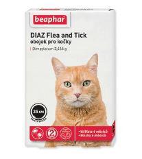 Beaphar Diaz antiparazitný obojok pre mačky, 35 cm
