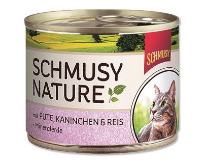 Schmusy Nature Menu konzerva - moriak & králik 190 g