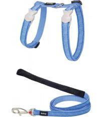 Red Dingo Nylonový postroj s vodítkom pre mačku Hypno blue