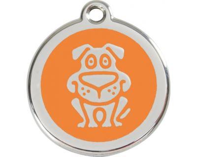 Red Dingo Známka oranžová vzor pes