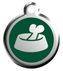 Red Dingo Známka zelená vzor miska
