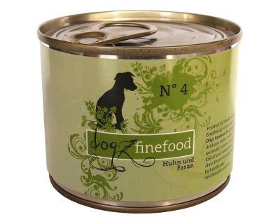 Dogz Finefood No.4 Konzerva - kura & bažant pre psov