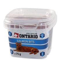 Ontario Snack Salmon Bits - pochúťka losos pre mačky 75 g