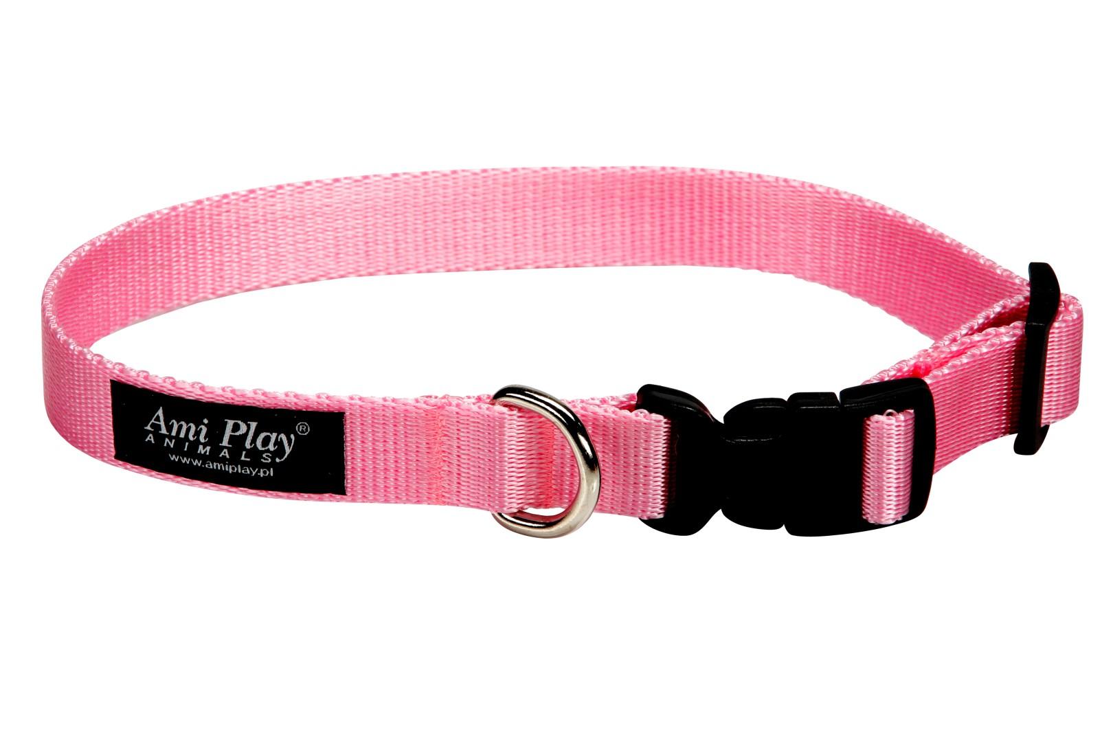 Obojek pro psa nylonový - růžový - 2 d016349075