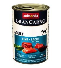 Animonda Gran Carno Adult Konzerva - losos & špenát pre psov