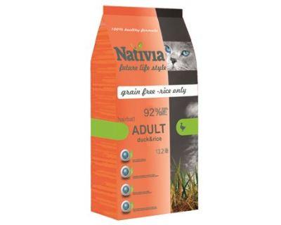 Nativite Cat Adult Duck & Rice Hairball - kačica & ryža pre dospelých a dlhosrsté mačky 10 kg