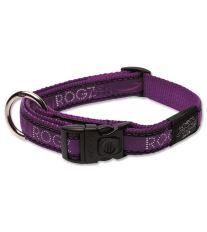 Obojok pre psa nylonový - Rogz Fancy Dress Purple Chrome - 2 x 45 - 75 cm