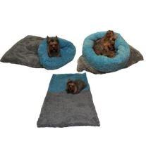 a1e0cf8688 Marie Brožková MARYS Spací vak 3v1 De luxe pre psov a mačky tmavo šedý s  modrou