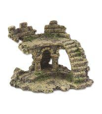 Dekorace AQUA EXCELLENT Zřícenina hradu 13 x 9,7 x 9,5 cm
