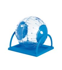 Koule se stojanem pro hlodavce Argi - modrá - 18,5 cm