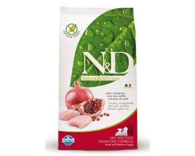 N&D Grain Free Dog Puppy S / M Chicken & Pomegranate 800 g