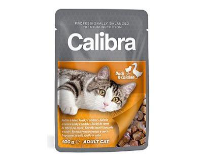 Calibra Cat kapsička kačacie a kuracie v omáčke 100 g