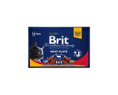 Brit Premium Cat Meat Plate - kapsičky pre mačky rôzne príchute 4x100 g