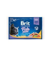 Brit Premium Cat Fish Plate - kapsičky pre mačky rybí 4x100 g