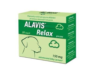 Alavis Relax 150 mg pre psov - pre dlhodobejšie podávanie na upokojenie pri strese