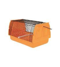 Prepravka pre vtáky 30x18x20cm plast oranžová 1ks TR