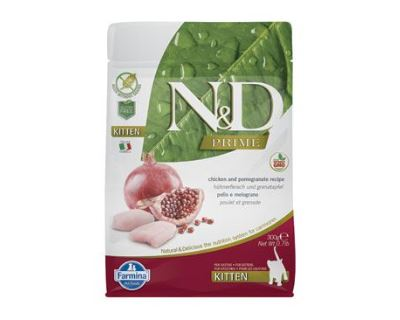 N&D Grain Free Cat Kitten Chicken & Pomegranate - kuracie & granátové jablko bezobilné pre mačiatka 300g