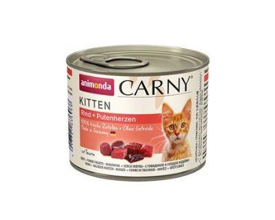 Konzerva pre mačky Animonda Carny Kitten hovädzie & morčacie srdce 200 g