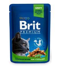 Brit Premium Cat kapsička Chicken Slices for steril 100 g