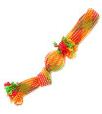 Přetahovadlo DOG FANTASY barevné přehnuté + míč 43 cm