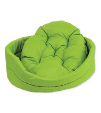 Pelíšek DOG FANTASY ovál s polštářem zelený 42 cm