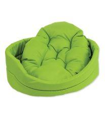 Pelíšek DOG FANTASY ovál s polštářem zelený 48 cm