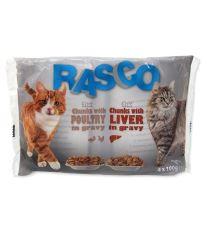 Kapsička Rasco Cat Multipack s hydinou / s pečeňou 4x100g