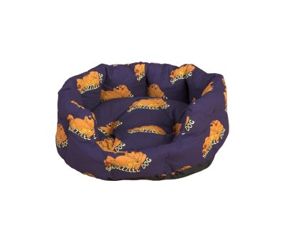 Snoozzzeee Relax bavlnený pelech ovál fialový