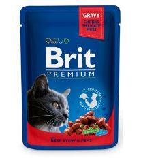 Brit Premium Cat Beef Stew & Peas - kapsička hovädzie & hrášok pre mačky 100 g