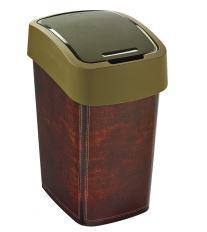 Curver odpadkový koš, FLIP BIN, motiv kůže, 25l